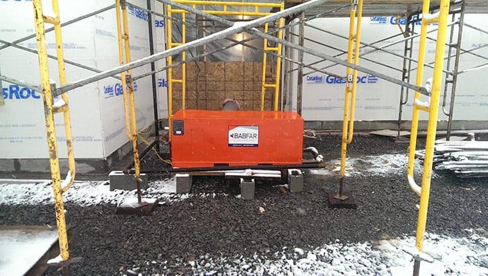 temporary construction heater